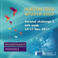 Horizon 2020 Societal Challenge 2 Infoweek including high-level policy events